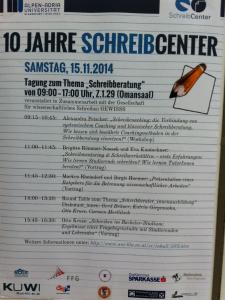 Programm der GeWissS-Tagung
